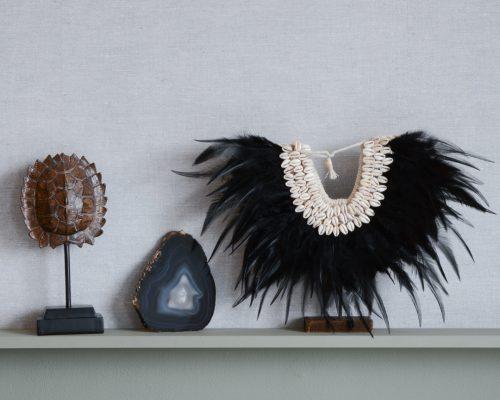 bohemian schelpenketting met veren