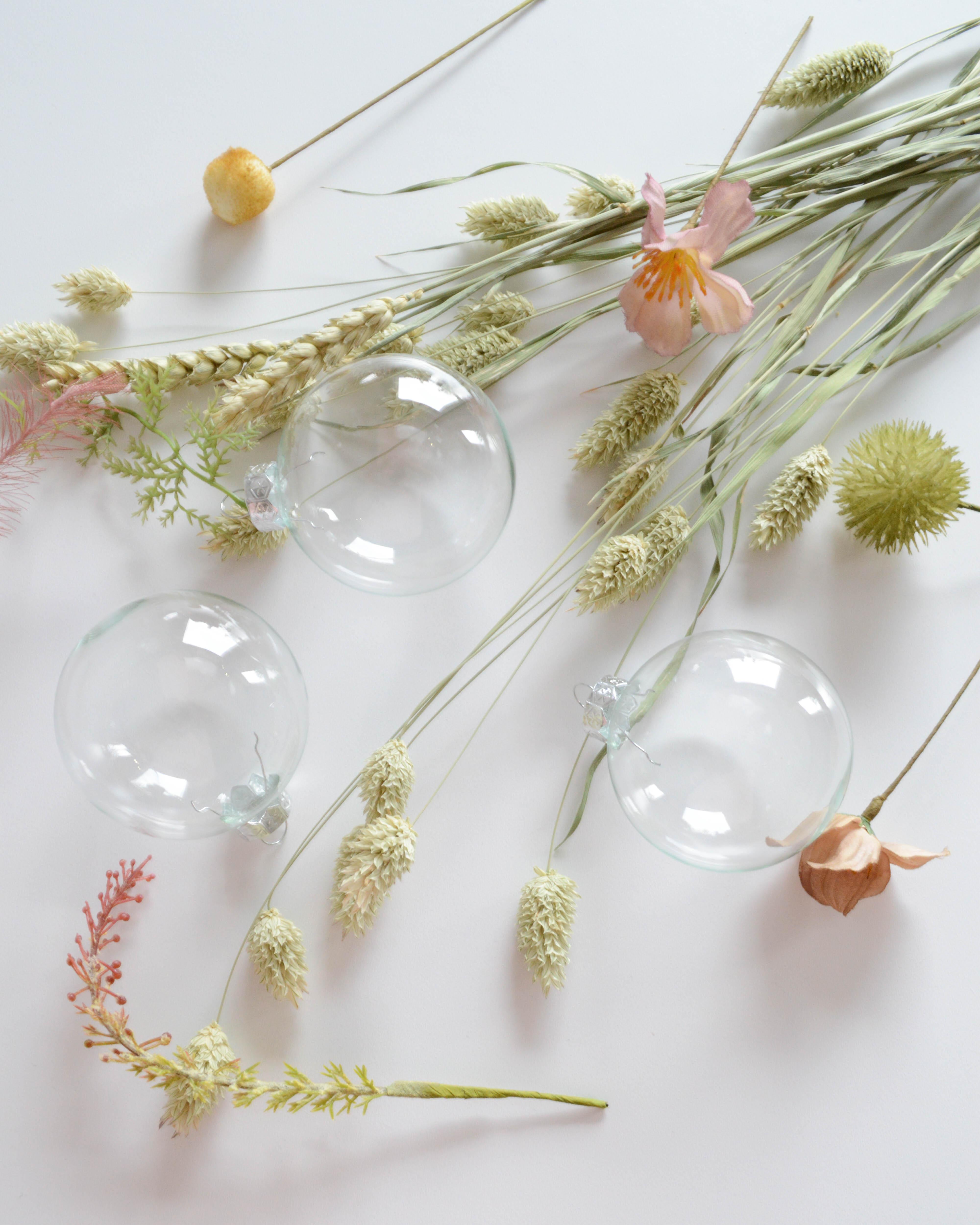 bloemen kerstbal